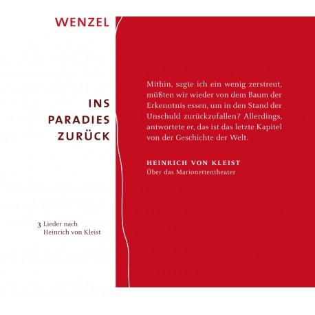 """CD Wenzel """"Ins Paradies zurück"""" - Sonderedition"""