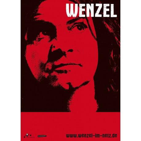 Wenzel Solo Plakat, A1 Rot / Schwarz gerollte Versendung