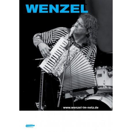 Plakat Wenzel Solo Live – Schwarz / Weiss Blau A1, gerollte Versendung