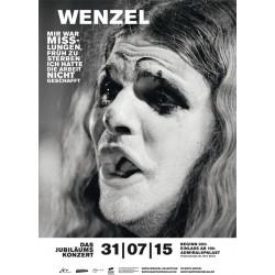 Plakat zu Wenzels Jubiläumskonzert im Admiralspalast 31/07/15 , A1 gerollt